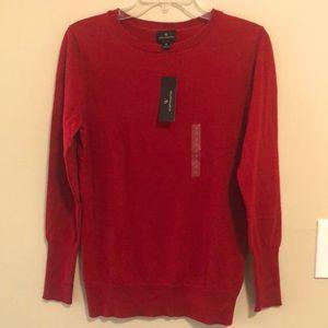 Worthington Sweater Red Crew Long Sleeve NWT! SZ M